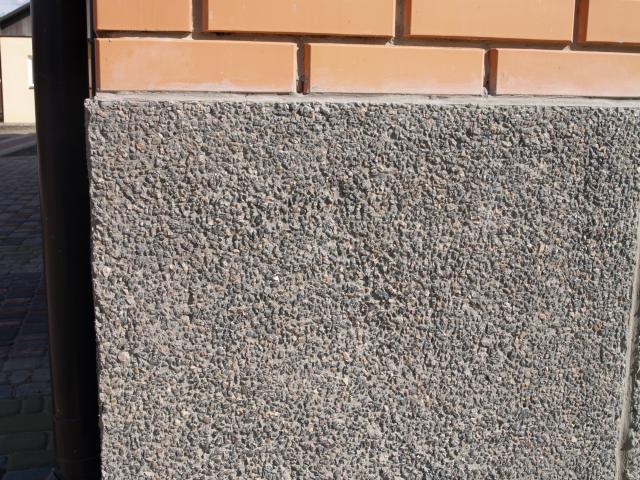 Мозаичная штукатурка для облицовки свайного фундамента