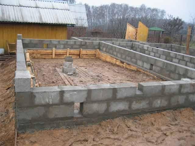 Сборный ленточный фундамент для дома из бруса