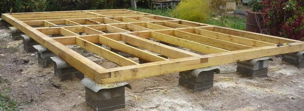 Столбчатый фундамент для дома из бруса